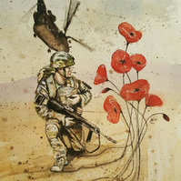 'Going Back'- limited edition print - military art - army gift