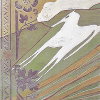 Westbury White Horse - greetings card - blank - horse - carved horse