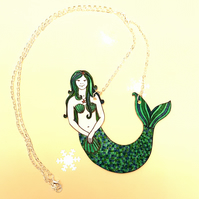 Mermaid Necklace - statement jewellery - handmade - gift for girls
