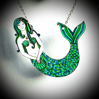 Mermaid Necklace - unique jewellery - gift for girls - jewellery for spring