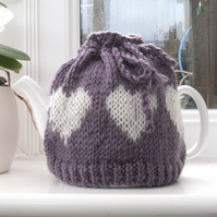 Heart tea pot cosy