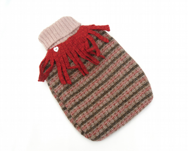 Recycled autumn Hot water bottle cover