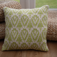 Leafy Green Cotton Cushion Cover