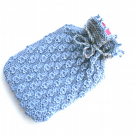 Blue textual winter Hot water bottle cover
