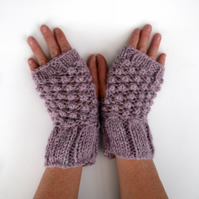 Acrylic & Alpaca fingerless gloves