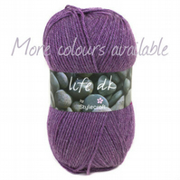 DK Yarn with wool , Stylecraft Life 100 grams