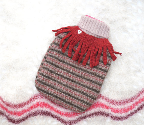 Recycled hot water bottle cover