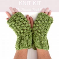 Kit to Knit Alpaca fingerless gloves