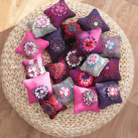 Harris tweed pin cushions , half price