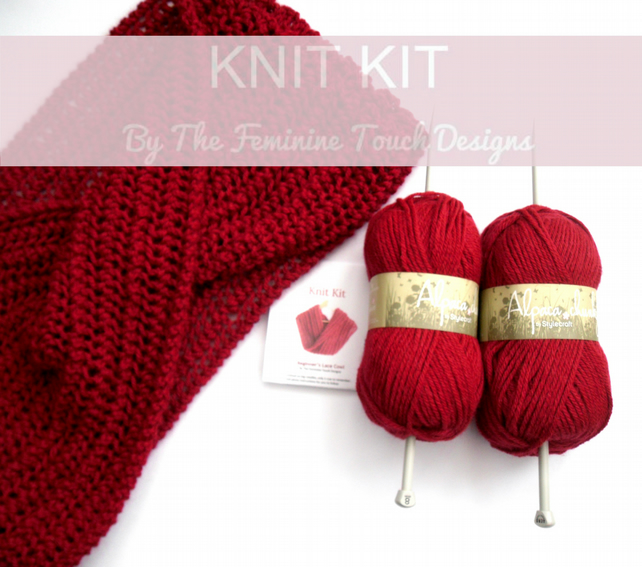 Knitting Kit for lace cowl