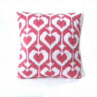 Valentine hearts cushion