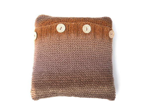 Brown Wool cushion