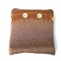 Brown Wool cushion , half price