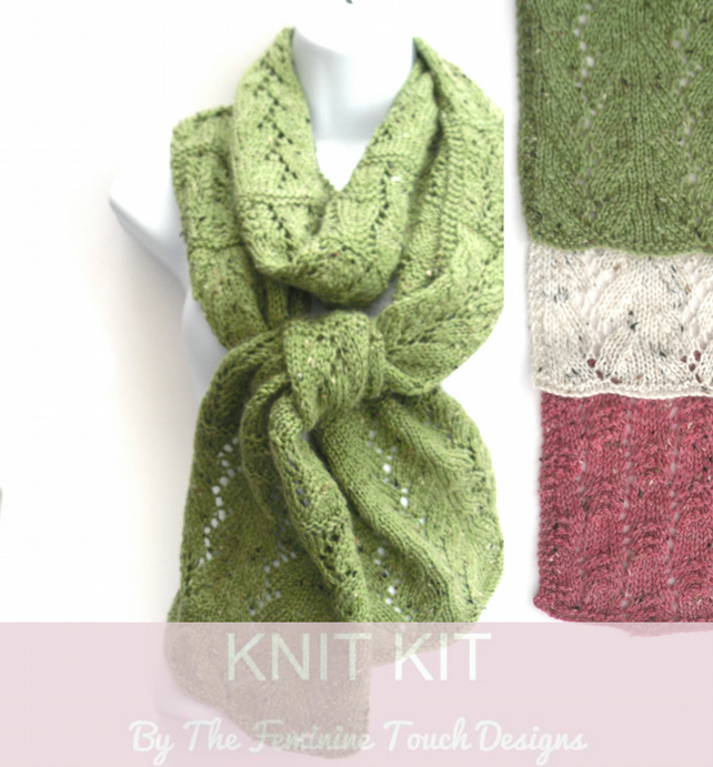 Vine Lace Scarf Knitting Kit