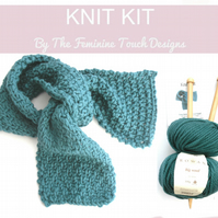 Luxury Wool Scarf Knit Kit