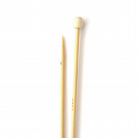 4mm Bamboo Wood Knitting needles , 35 cm long