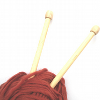 Bamboo Wood Knitting needles 12 mm x 35 cm long