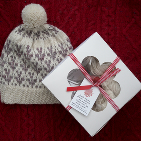 Sprig Beanie Hat knitting kit