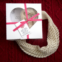 Knitting Kit for choice of 2 lace cowls