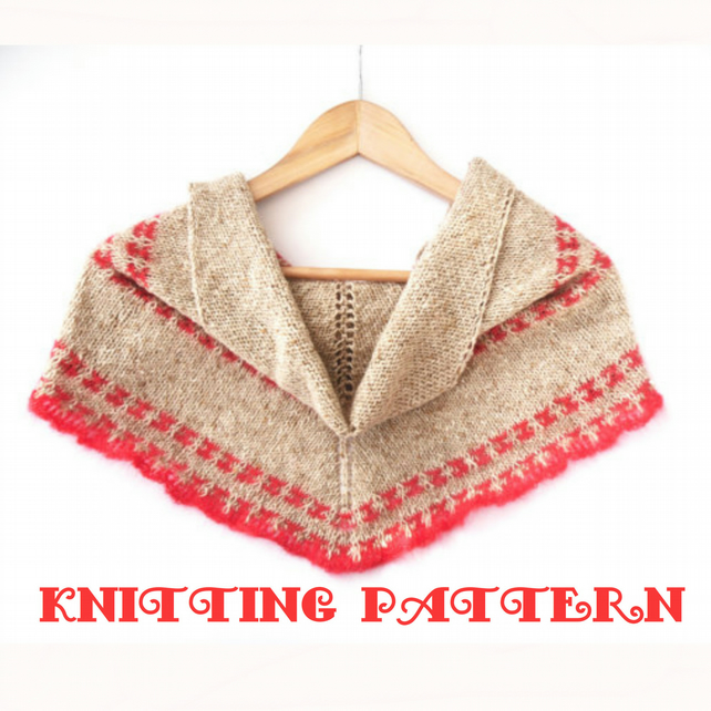 Knitting Pattern for for triangular shawl