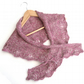 Pink & Grey Wool shawlette