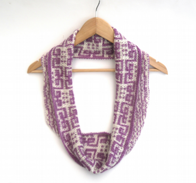 Ethnic Mosaic Pattern infinity scarf