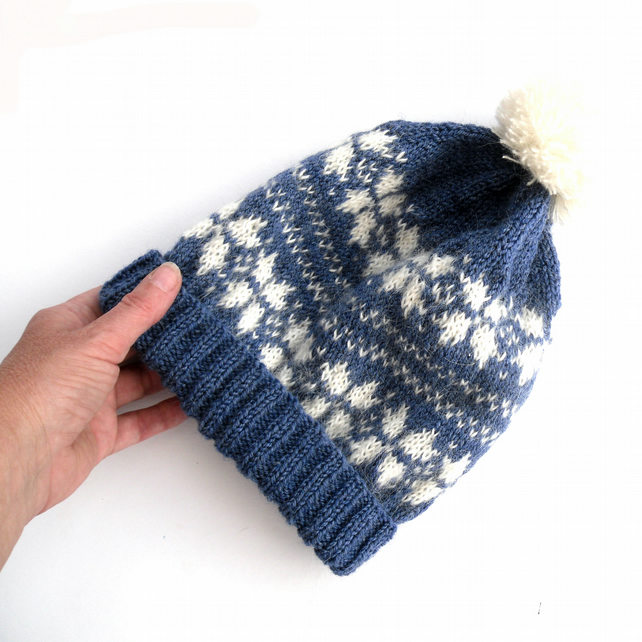 Fair Isle Knitted Beanie Hat