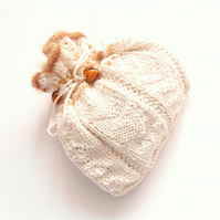 Cream drawstring cotton bag