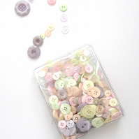 Bag of Pastel Coloured Buttons