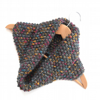 Unisex Snood , moss stitch cowl