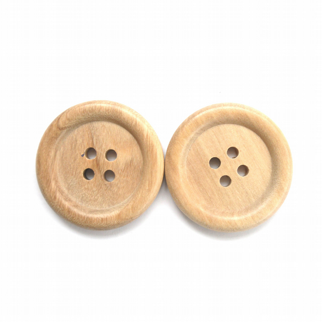 Extra Large wood buttons set of 2