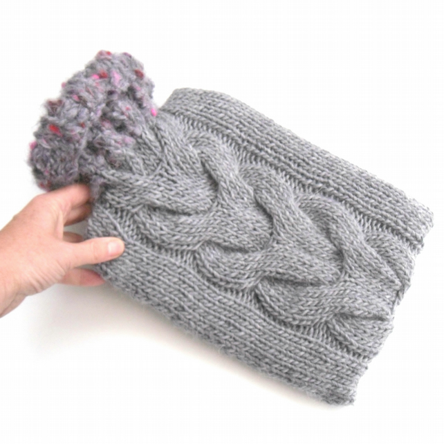 Wool Hot water bottle cover