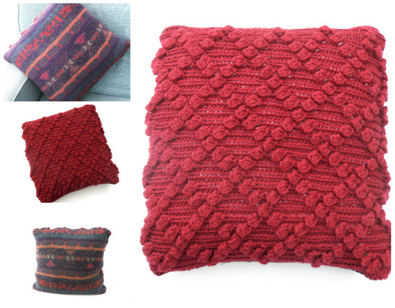 Red Chunky Cushion cover