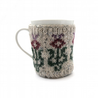 Scottish Thistle Wool Mug Hug , 10% of sales to Haven breast Cancer
