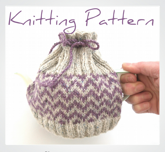 2 cup tea cosy knitting pattern - Folksy
