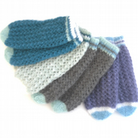 Custom knit kid silk & mohair lace bed socks