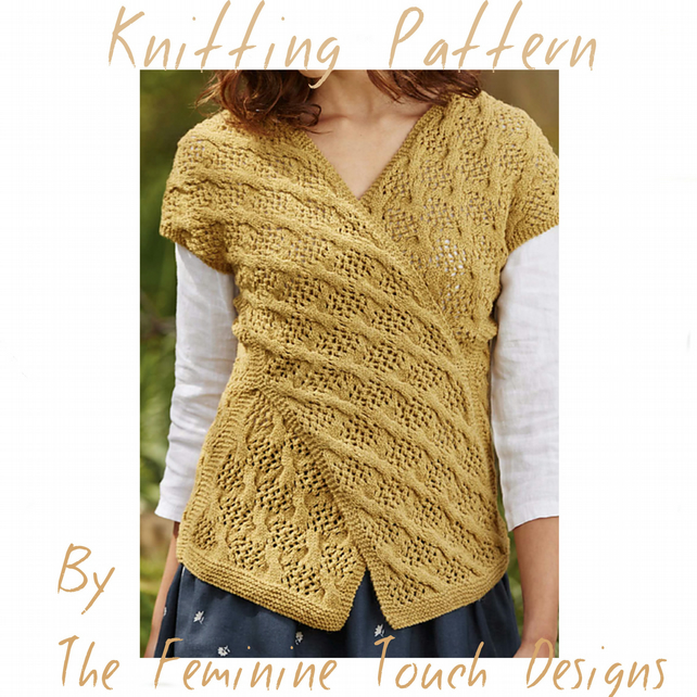 Knitting pattern for Lois Criss Cross Top