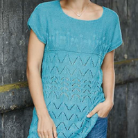 Ladies lace top Knitting Pattern
