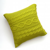 Lime Green Cable cushion cover