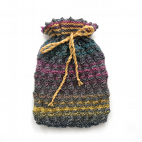 Multi coloured textual winter Hot water bottle cover