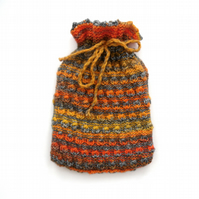 Fire coloured textual winter Hot water bottle cover