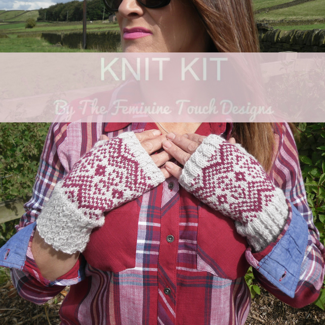 Fair Isle Gloves Knitting Kit