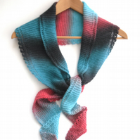 Striped Wool & Silk Shawlette
