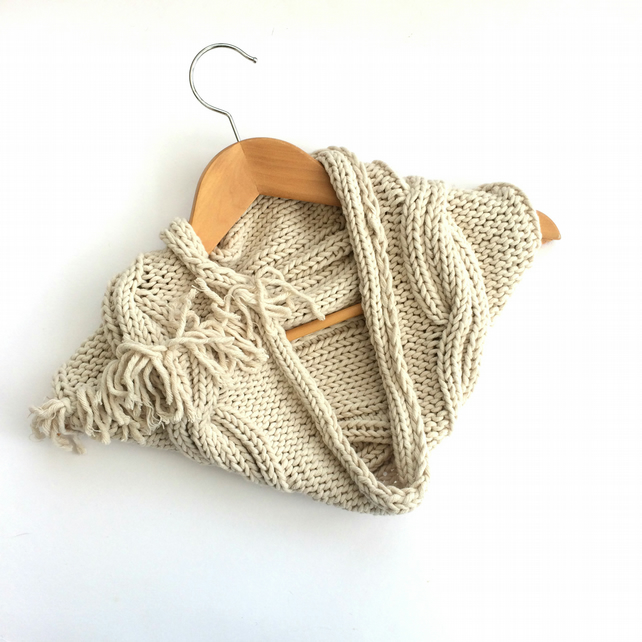 Autumn cotton cowl