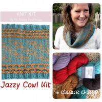 Chunky Cowl knitting kit , The Fibre Co Yarn , The Feminine Touch Design