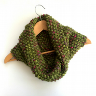Green Chunky Cosy Snood