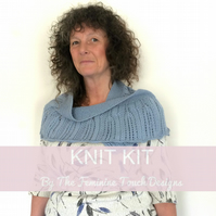 Lace Shawlette Knitting Kit available in 25 different colour choices
