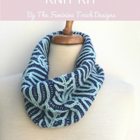 Brioche Cowl Knitting kit