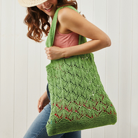 This Way Up ! shopping bag knitting pattern