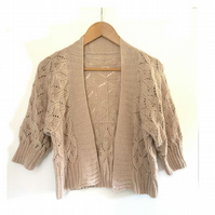 Lace Bolero Jacket in Almond